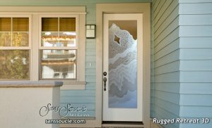 glass front doors etched glass eclectic rustic style wavy pattern sans soucie