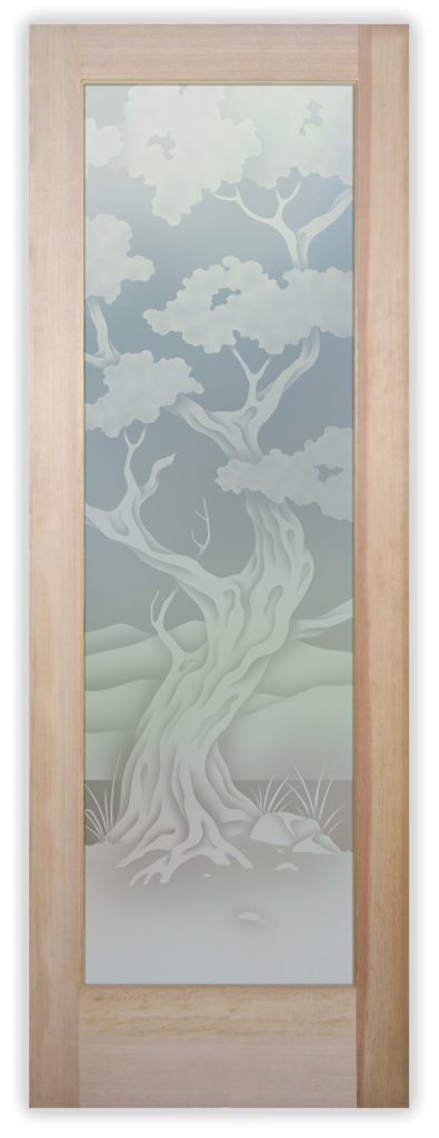 Bonsai 2D Private Etched Glass Door