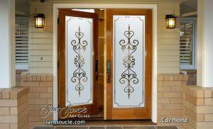 Glass Front Doors Etched Glass Carmona tuscan decor Sans Soucie