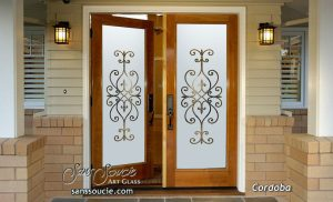 glass front doors etched glass iron gates bars mediterranean design sans soucie cordoba