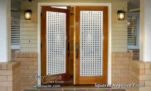double entry doors frosted glass patterns geometric modern decor sans soucie squares