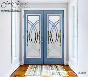 front doors with glass custom glass art deco design sans soucie arcs ll