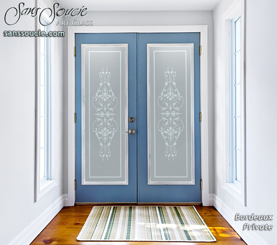 Bordeaux French Design Interior Etched Glass Doors