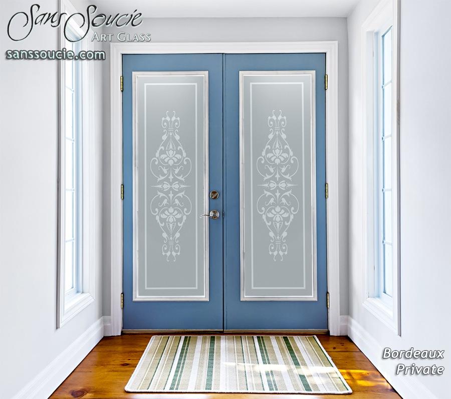Bordeaux french design interior etched glass doors for Bordeaux design