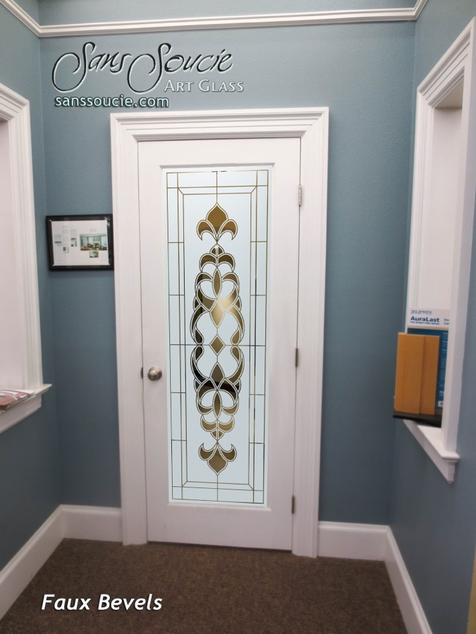 Faux Bevels I Etched Glass Front Doors French Decor