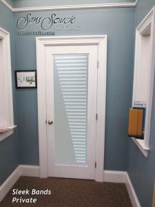 interior glass doors glass etching modern decor geometric patterns sleek bands sans soucie