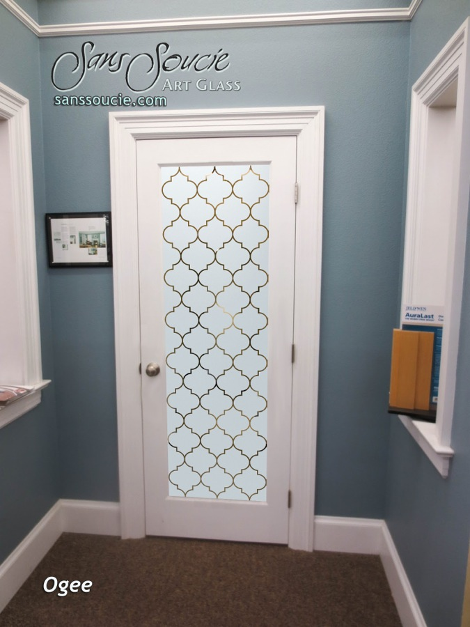 Glass Entry Doors Frosted Pattern Decorative Moroccan Decor Sans Soucie Ogee Lg