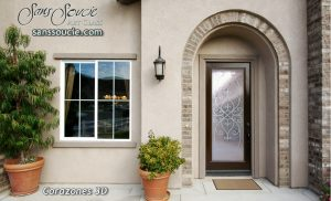 Entry Glass Doors Etched Glass Tuscan Decor Wrought Iron Mediterranean