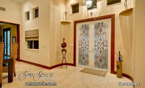 interior glass doors corazones painted sans soucie