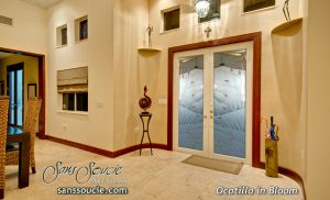 glass entry doors double doors with etched glass western decor ocotillo desert