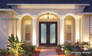 Door Glass Inserts Dreamy Waves 2D Sans Soucie