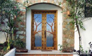 interior glass doors cherry blossom painted sans soucie