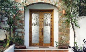 desert home glass entry doors custom western decor etched glass sans soucie