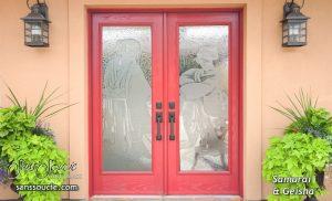 Door Glass Inserts Geisha 3D Sans Soucie