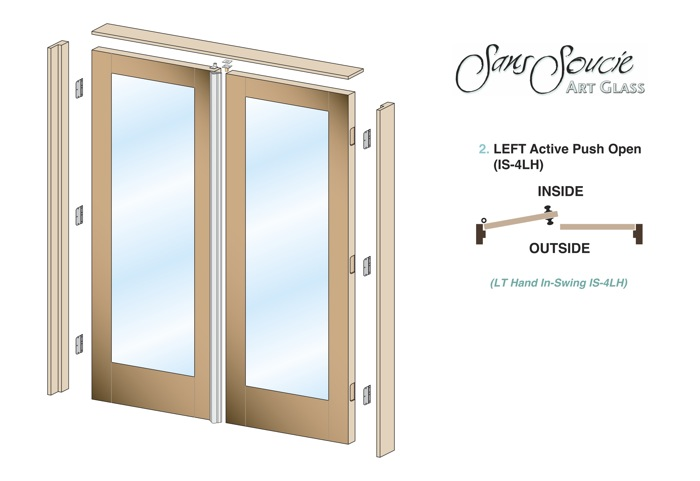 Pre Hung Interior Doors Pair Sans Soucie Art Glass