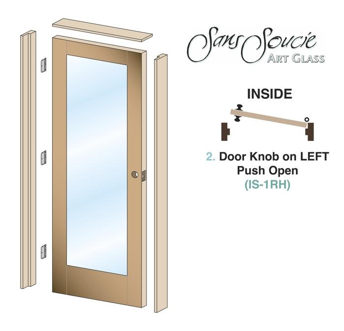 Pre Hung Interior Door By Sans Soucie Art Glass