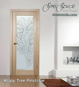 interior glass doors frosted glass rustic decor thin branches nature wispy tree pinstripe sans soucie