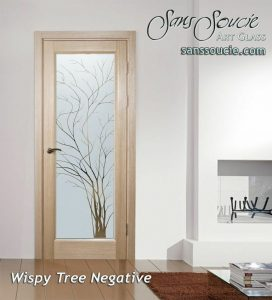 interior glass door etching glass natural outdoor design rustic decor sans soucie wispy tree