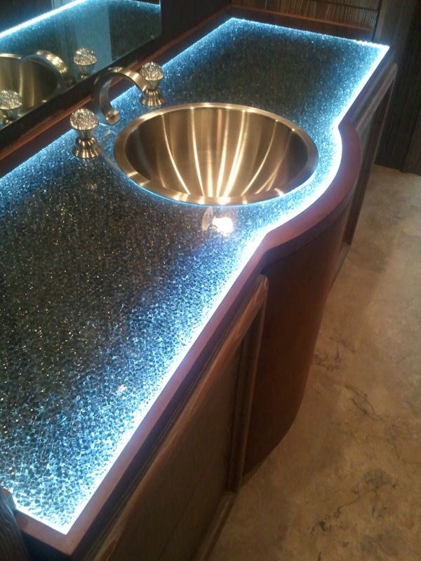 Bathroom Vanity Counter Top Shattered Glass grey by Sans Soucie