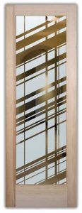 glass entry doors etched glass linear sleek lines geometric modern design sans soucie angles