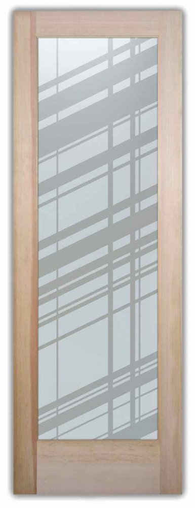 interior glass doors etched glass modern design crossing lines angles sans soucie