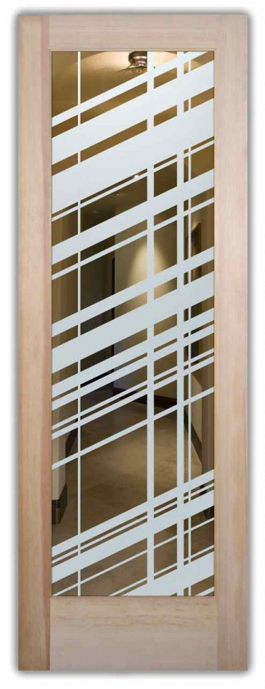 interior doors with glass etching custom glass modern design angular patterns angles sans soucie