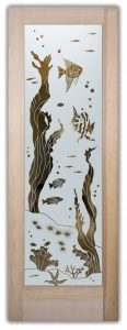 glass doors glass etching aquatic nature sea life tropical style coastal sans soucie aquarium fish