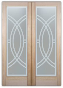 Interior Glass Doors Glass Etching Contemporary Design Arcs II Sans Soucie