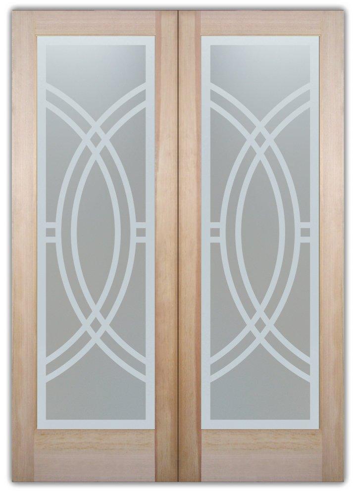 Interior Glass Doors Glass Etching Contemporary Design Arcs II Sans Soucie