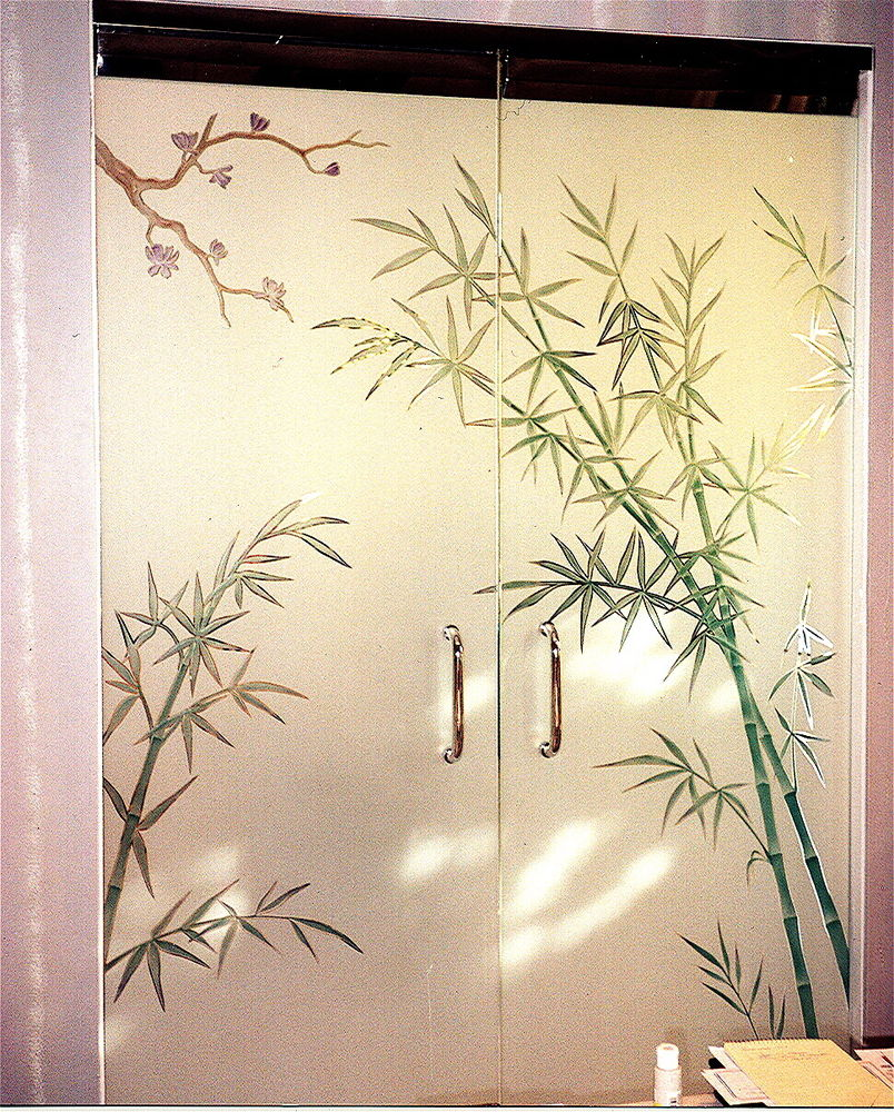 Bamboo Forest Frameless Glass Doors Sans Soucie