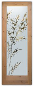 Glass Front Doors Etched Glass Asian Style Bamboo Forest by Sans Soucie