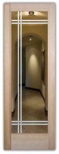 interior glass doors frosted glass traditional decor linear patterns bands sans soucie