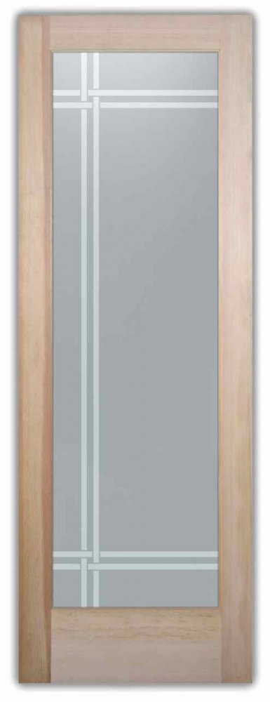 interior glass doors custom glass traditional decor linear patterns straight lines bands sans soucie
