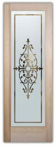 interior glass doors etched glass designs wrought iron bars tuscan decor sans soucie barcelona