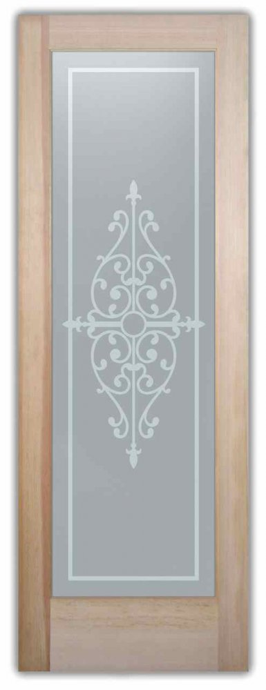 interior glass doors etching glass Tuscan style ornate iron bars barcelona l sans soucie
