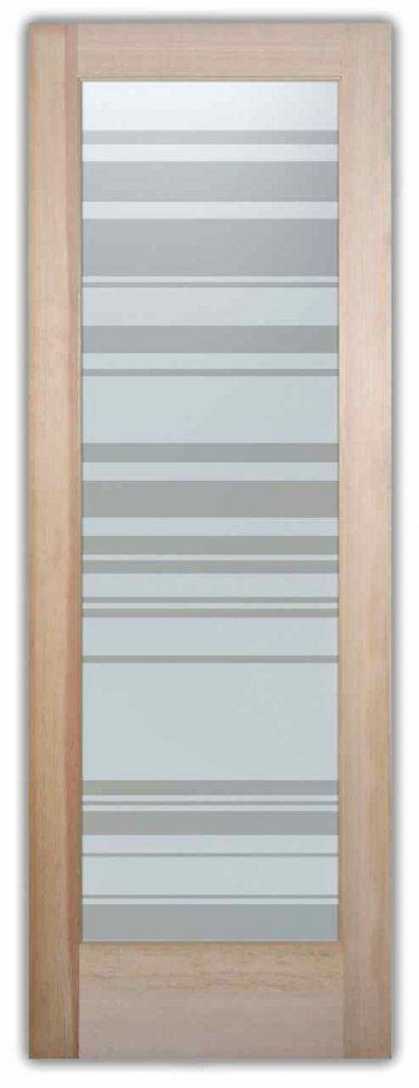 interior glass doors sandblasted glass modern decor linear geometric patterns barcodes sans soucie