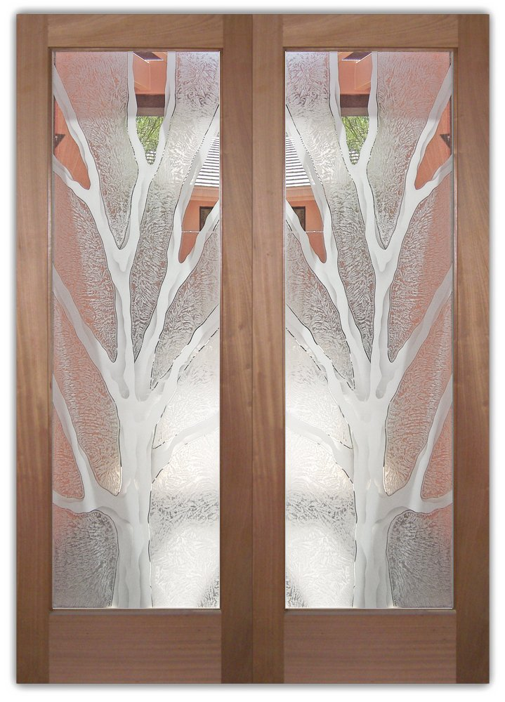 Barren Branches 2d Etched Glass Doors Sans Soucie Art Glass