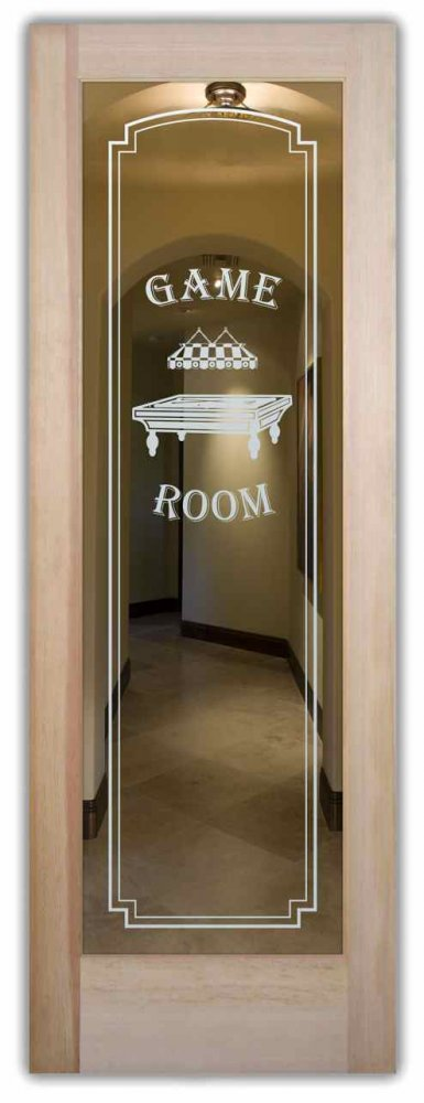 interior doors with glass etching etched glass theme rooms pool table billiards sans soucie