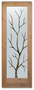 glass entry doors frosted glass outdoors natural tree rustic style sans soucie branch out