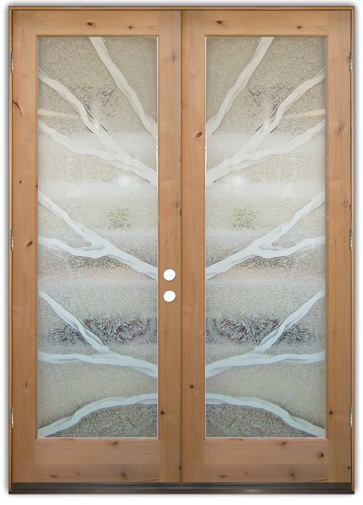 Branches 2d Etched Glass Doors Rustic Decor