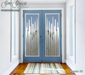 double glass doors with custom glass etching vertical mosaics modern style sans soucie