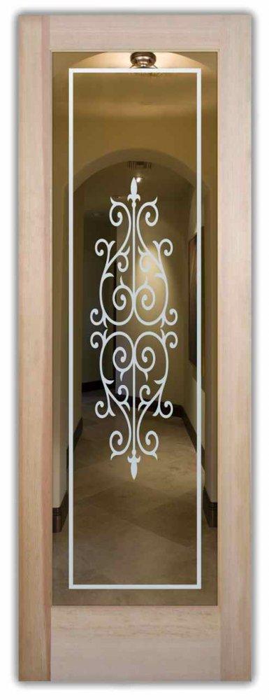 Cadiz interior doors with glass etching mediterranean style for Mediterranean interior doors