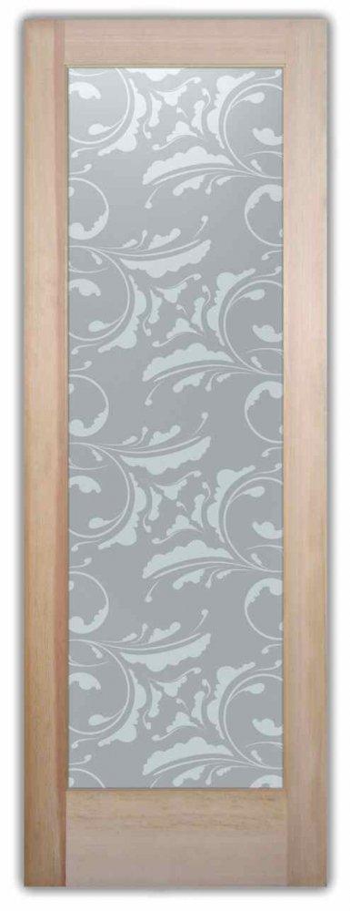 interior glass doors frosted glass Victorian decor ornate geometric shapes cambridge sans soucie