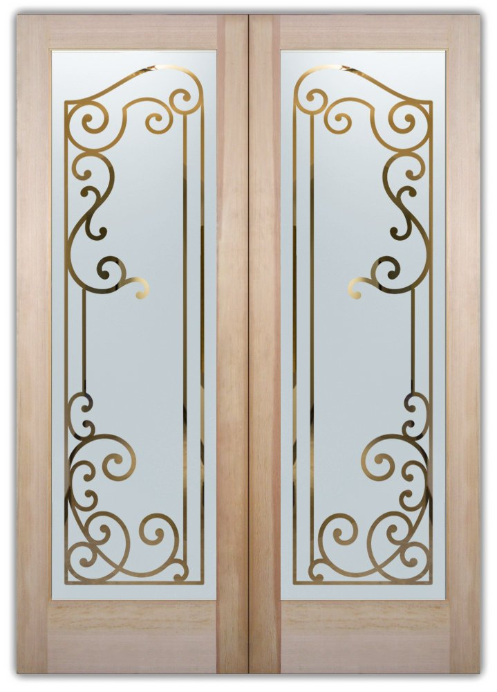 Cartegena Etched Glass Front Doors Mediterranean Style