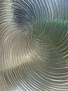 Cast Swirls Door Glass Insert