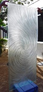 Glass Front Doors Cast Glass Swirls Texture Grooves in Glass
