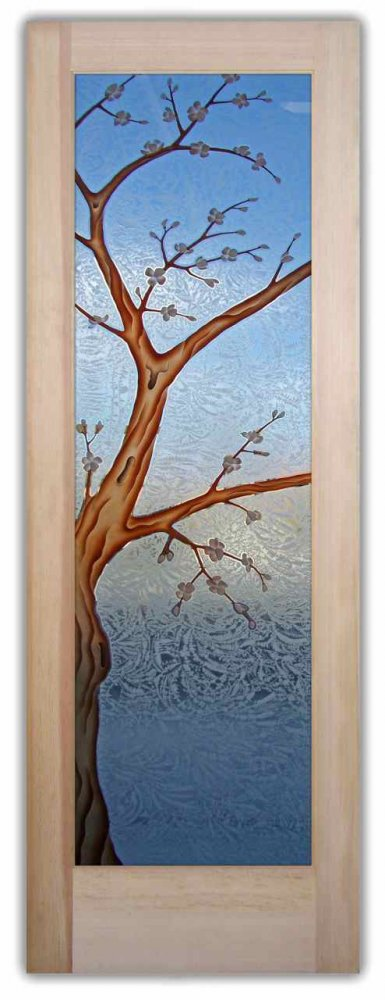 Cherry Blossom Glass Entry Doors by Sans Soucie