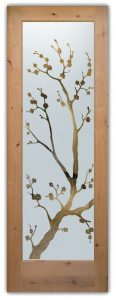 Glass Front Doors Asian Decor Cherry Blossom by Sans Soucie