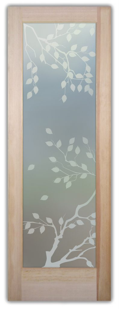 Cherry Tree 1D Private Etched Glass Door Asian Decor