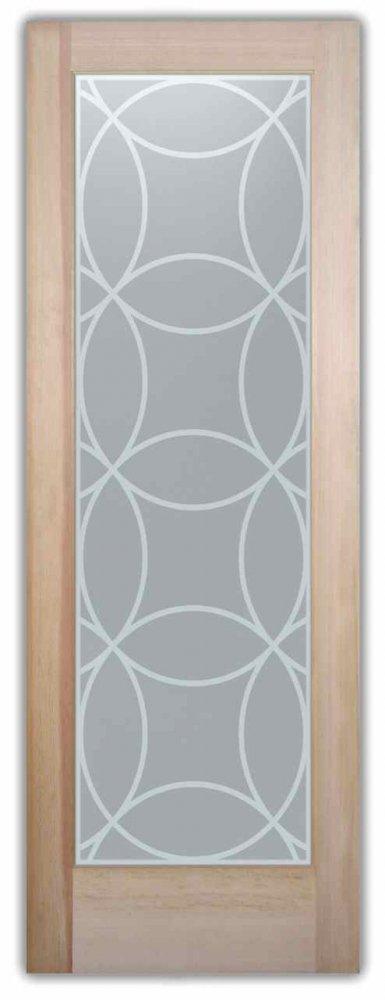 interior glass doors custom glass art deco style geometric patterns diamonds circles intersecting sans soucie